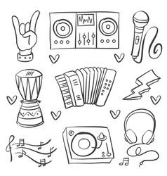 collection stock of musical instrument art vector image
