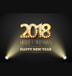 2018 new year count symbol with spotlights vector