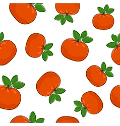 Seamless pattern of mandarin vector