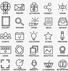 Set of seo and internet service icons - part 7 vector