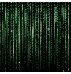 Stream of binary code on screen Abstract vector image