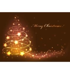christmas tree card abstract vector image