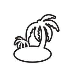 Stylish black and white icon indian palm vector