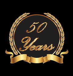 50 years commemoration vector