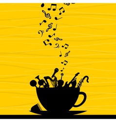 Musical instrument in a cup vector