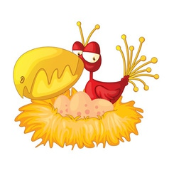 Bird in a nest vector image