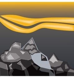 Simple gray mountains vector