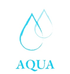 art water droplet sign vector image vector image