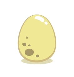 Cartoon Egg Isolated On White vector image