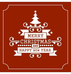 Christmas retro typographic background vector