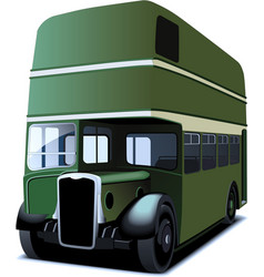 Double decker bus vector