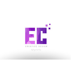 Ec e c pink alphabet letter logo combination with vector