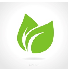 Eco green leaf concept vector