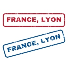 France lyon rubber stamps vector