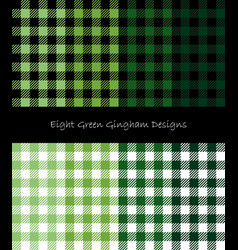 Green lumberjack pattern collection vector