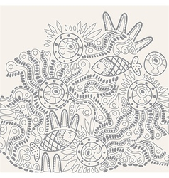 hand-drawn abstract design ethnic abstract vector image