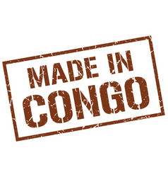 Made in congo stamp vector