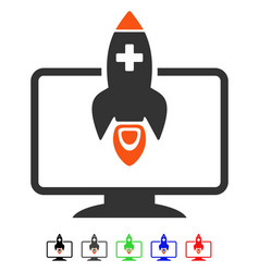 Medical startup flat icon vector