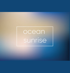Mesh blue ocean sunrise smooth abstract colorful vector