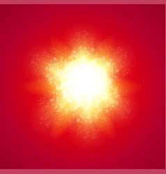 red background with explode vector image vector image