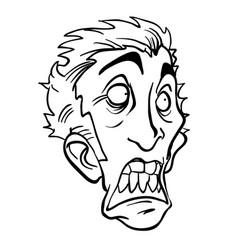 scared man black vector image vector image