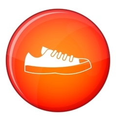 Sneakers icon flat style vector