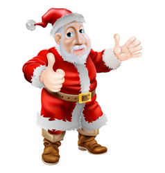 Thumbs up cartoon santa vector
