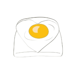 Toast with egg vector