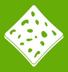Tofu fresh block icon green vector