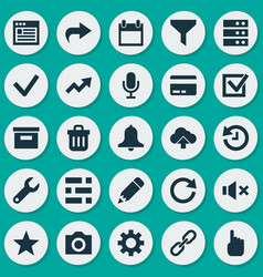 User icons set collection of card increase star vector