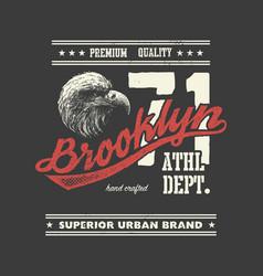 vintage urban typography with eagle head vector image vector image
