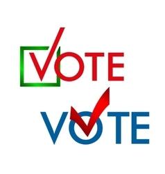 Voting symbols template vector