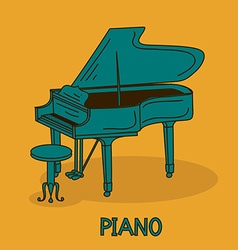 With grand piano vector