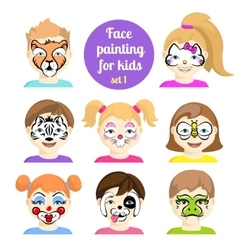 Face painting 7 vector image