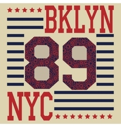 New york brooklyn sport typography t-shirt vector