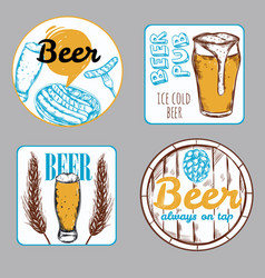 Beer label set vector