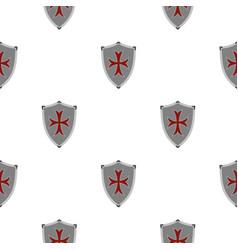 Protective shield pattern flat vector