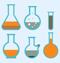 lab flask test medical laboratory scientific vector image