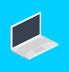 laptop computer isometric vector image