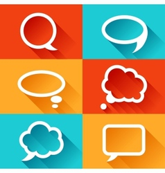 Set of speech bubbles in flat design style vector image