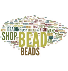 Bead spinner text background word cloud concept vector