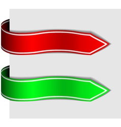 Arrow ribbon signs vector