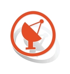 Satellite dish sign sticker orange vector