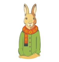 Colourful winter hare vector