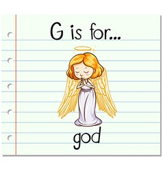 Flashcard letter g is for god vector