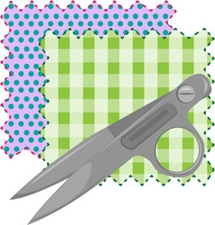 Fabric scissors vector