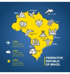 South america infographics for travel vector