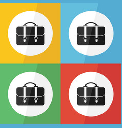 bag icon flat design vector image vector image