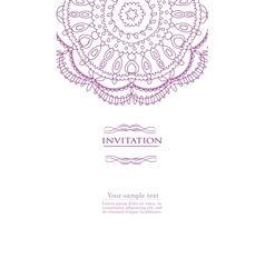 Beautiful purple invitation card vector image vector image