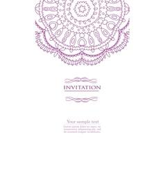 Beautiful purple invitation card vector
